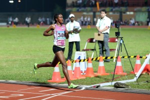 Alia Mohammed Saeed  she wins a Bronze Medal in 10,000 m Run